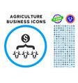cattle result money rounded icon with set vector image vector image