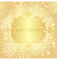 Christmas golden greeting card vector image vector image