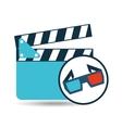 clapper glasses 3d cinema movie desing vector image vector image