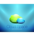 Cloud space concept background vector image