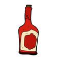 comic cartoon bottle of rum vector image vector image