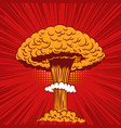 comic style nuclear explosion on pop art style vector image vector image