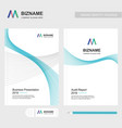company brochure with elegent design and also vector image vector image