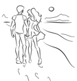 Couple on the beach vector image vector image