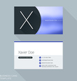 Creative Business Card Template Letter X Flat vector image