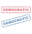 democratic textile stamps vector image vector image