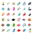 deposit icons set isometric style vector image vector image