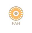 design fan logo company vector image vector image