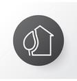 eco house icon symbol premium quality isolated vector image