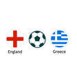 england versus greece - banner for soccer vector image vector image