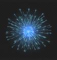 festive bright fireworks vector image