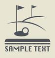 Golf field icon vector image vector image