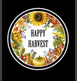 greeting banner of harvest with autumn leaves vector image vector image