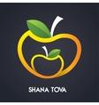 Happy new year Shana Tova in Hebrew Jewish vector image vector image