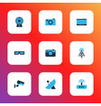 hardware icons colored set with video camera vector image