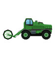 harvesting agriculture vehicle concept vector image