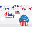 Independence Day 4 th July celebration vector image vector image