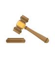 judge wood hammer vector image