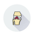 knee joint icon on round background vector image vector image