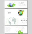 layout headers banner design templates vector image