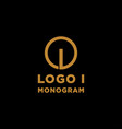 luxury initial i logo design icon element isolated vector image vector image