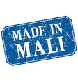 made in Mali blue square grunge stamp vector image vector image