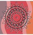 Mandala art based cover invitation or postcard vector image vector image