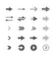modern simple icons and logos set of arrows vector image vector image