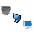 monitors computer vector image vector image