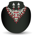 necklace with her wedding with red vector image