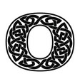 numeral with celtic ornament vector image