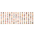 people portraits and emotional faces icons set vector image