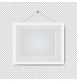 picture white frame isolated transparent vector image vector image