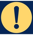 Problem flat yellow color icon vector image