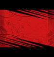 red grunge background with texture vector image vector image