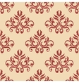 red retro seamless pattern on beige background vector image vector image