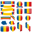 Romania flags vector image