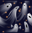 seamless pattern ghosts spooky phantom characters vector image vector image