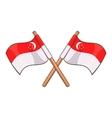 Singapore flag icon cartoon style vector image