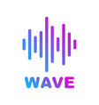 sound and audio waves logotype of music and audio vector image vector image