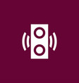 speaker icon simple vector image vector image