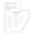 Standard office furniture symbols set vector image vector image