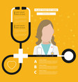 stethoscope health care flat with text vector image vector image