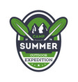 summer camp expedition vintage isolated badge vector image vector image