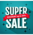 Super Sale banner design template vector image