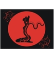 tattoo of red dragon vector image vector image