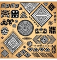 Tribal vintage ethnic pattern set vector image vector image