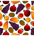 Vegetarian fruits seamless pattern isolated on vector image vector image