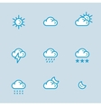 Weather Icons with White Background vector image vector image