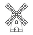windmill thin line icon farming and agriculture vector image vector image